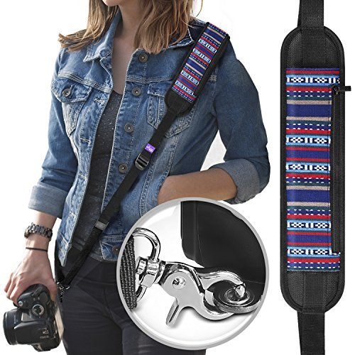 Altura Photo Rapid Fire Vintage Camera Neck Strap w/Quick Re