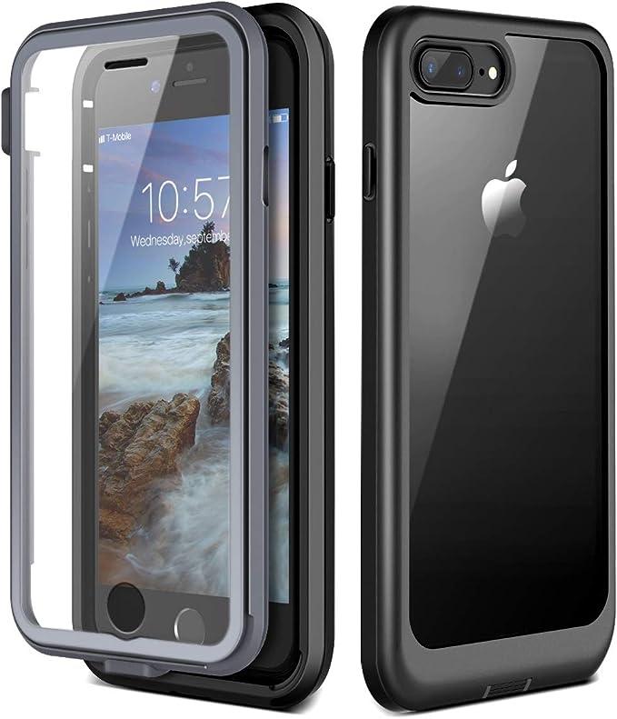 17 opinioni per Prologfer Cover iPhone 7 Plus Custodia iPhone 8 Plus Protezione dello Schermo