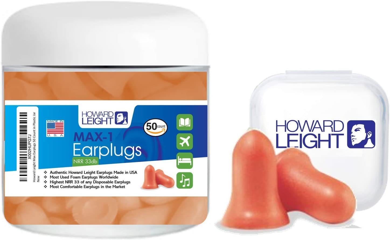 MAX Foam earplugs Howard Leight 37dB work sleep snore Noise Reduction UK AC1070