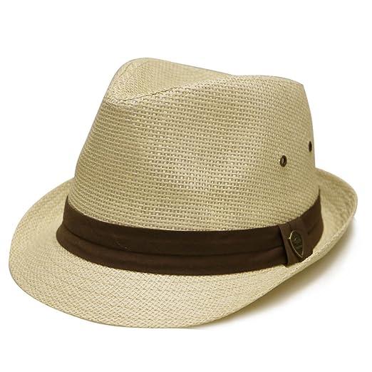 Pamoa Pms500 Unisex Solid Trilby Straw Fedora Hats 4 Colors (Natural ... e0f6521ba8e4