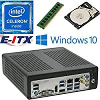 E-ITX ITX350 Asrock H270M-ITX-AC Intel Celeron G3930 (Kaby Lake) Mini-ITX System , 4GB DDR4, 2TB HDD, WiFi, Bluetooth, Window 10 Pro Installed & Configured by E-ITX