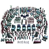 AMOR PRESENT 307 PCS World War II Army Men,War Soldiers with Hand Bag,Toy Soldiers Set,Gift for Kids