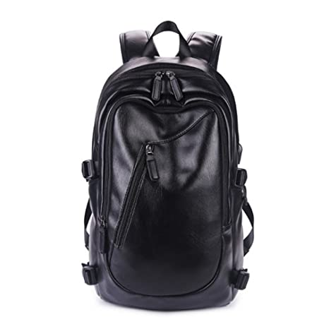 7d66783031a8 Amazon.com: UKXMNC Men Backpack Leisure Time Travel PU Leather ...