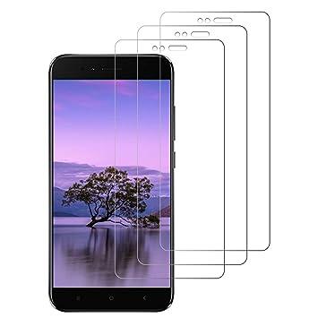 Paopi 3 Unidades Protector de Pantalla para Xiaomi Mi A1 / 5X Cristal Templado Alta Definicion