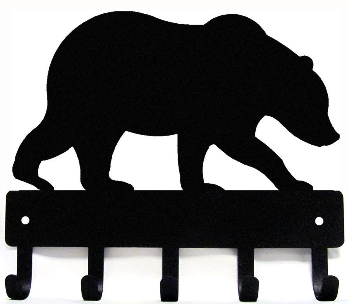 The Metal Peddler Bear #02 Key Rack Hanger - Small 6 inch wide