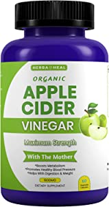 Organic Apple Cider Vinegar Capsules 1600MG with The Mother, Lemon Powder, Inulin & Cayenne Pepper for Weight Loss & Detox - ACV Pills Bloating Relief Metabolism Booster - Cayenne Pepper Capsules