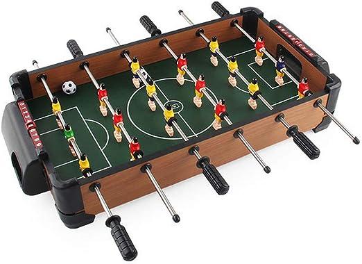 QWERTU Mini Mesa de fútbol, Mesa de Madera, futbolín, Juego de ...