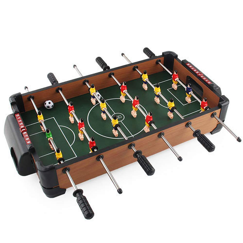 QWERTU Mini Football Table, Wooden Table Top Football Foosball Family Fun Game Deluxe Durable for Birthday Holiday Indoor and Outdoor Soccer by QWERTU