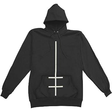 super cheap shop for luxury rational construction Marilyn Manson Men's Double Cross Hooded Sweatshirt Black