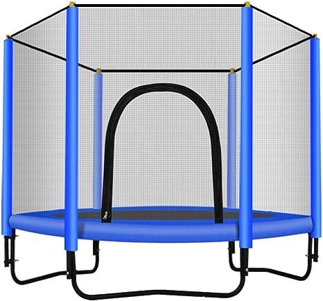 Skiout Cama Elástica Trampolín para Jardin con Red de Seguridad, para Niños y Adultos,Interior y Exterio, MAX 500 kg,Blue: Amazon.es: Deportes y aire libre