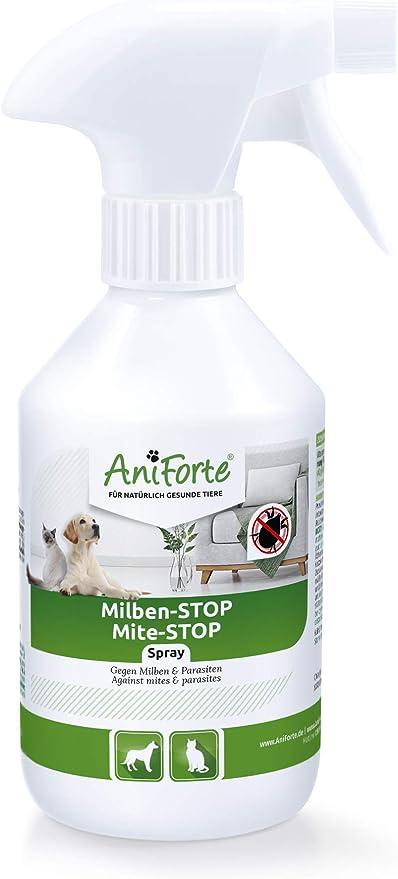 AniForte Spray antiácaros para Perros y Gatos 250 ml - Spray antiácaros para una Defensa eficaz contra Insectos y parásitos. Protección contra infestación de ácaros: Amazon.es: Productos para mascotas