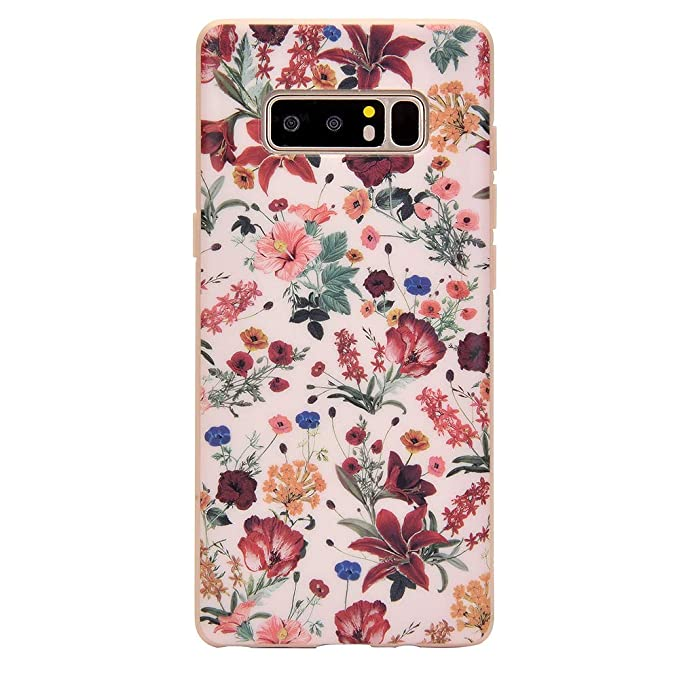 77b4be5c4900 Image Unavailable. Image not available for. Color: Vintage Pink Floral Galaxy  Note 8 Case ...