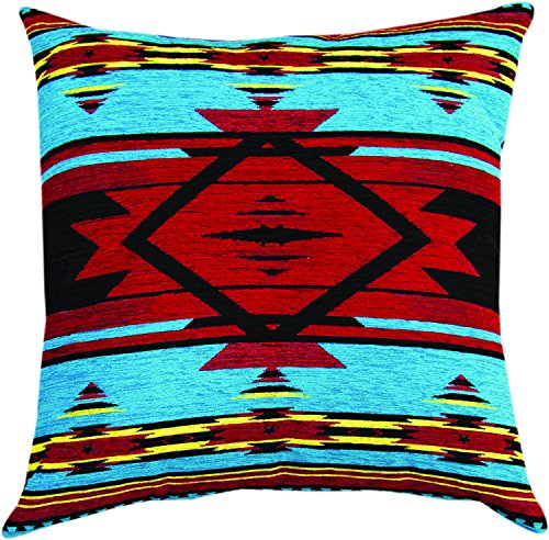 MWW Manual Woodworkers & Weavers Tapestry Throw Pillow, Flame Bright, 20