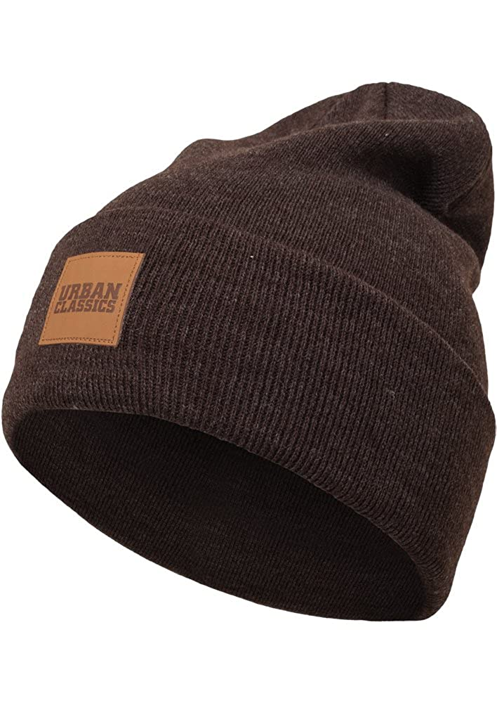 Urban Classic Leatherpatch Long Beanie Hat