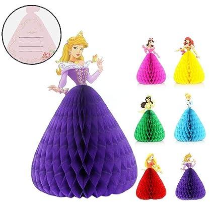Danza 2pcs 3d Princesa Cumpleaños De La Historieta Del