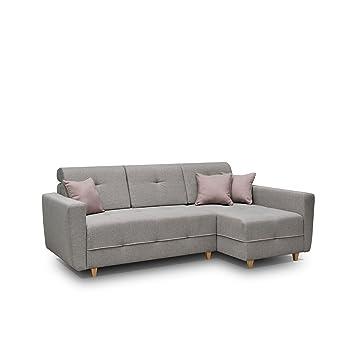 Mirjan24 Ecksofa Eckcouch Grey Sofa Couch Mit Bettkasten Und