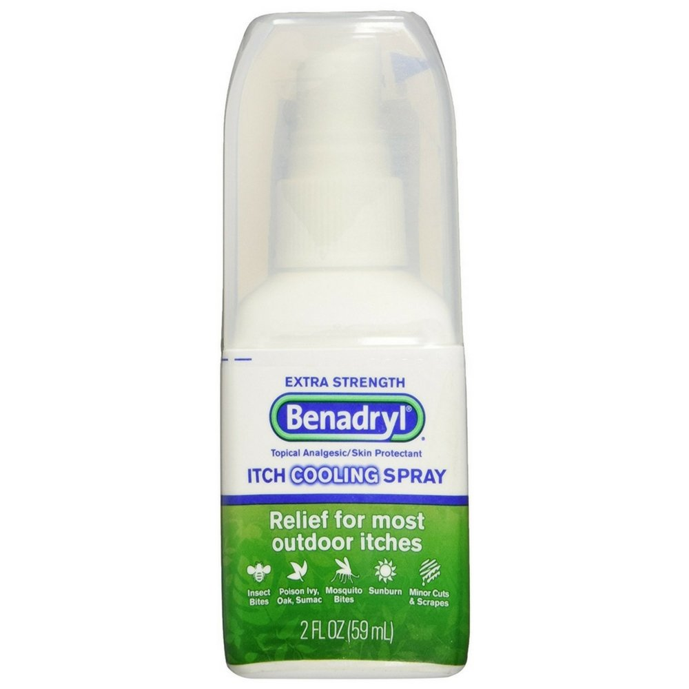 Benadryl Itch Relief Spray Extra Strength 2 oz (Pack of 2)