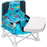 VEEYOO Travel Booster Seat - Booster Seat for Table with Removable Dining Tray, Portable Baby Chair for Indoor/Outdoor, Campi