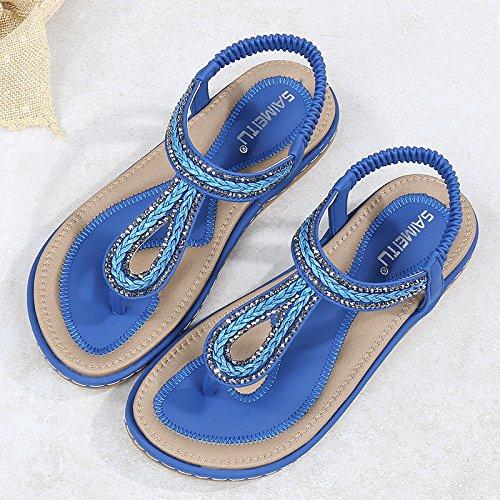 Yalanshop étudiant Sandales Tongs Fashion Tissage Femmes 1Color pour Chaussures awT1qOar