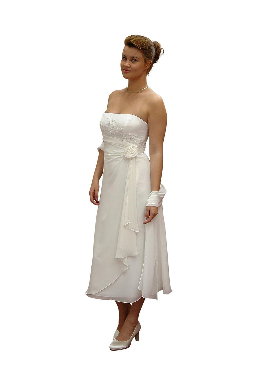 Consuello Standesamt Brautkleid, ivory 32: Amazon.de: Bekleidung