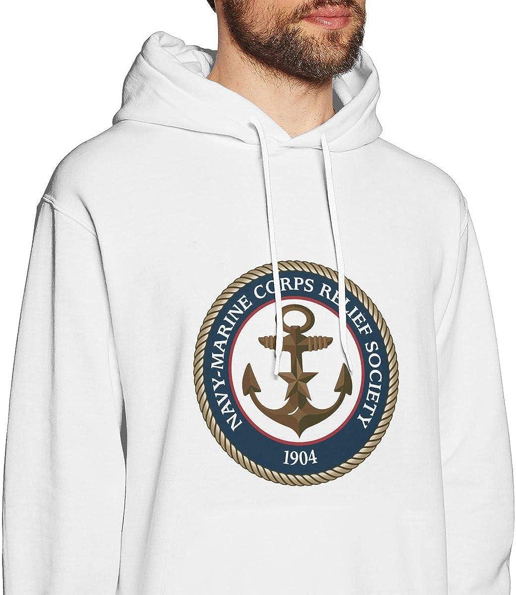 Navy Marine Corps Relief Society Mens Hooded Sweatshirt Theme Printed Fashion Hoodie