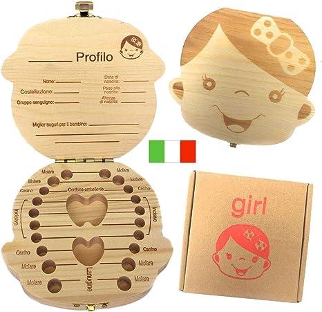 Versione italiana) caja de dientes para niños, bebé dientes caja ...