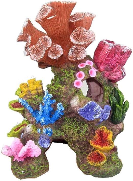 Wsjtt Mountain View Aquarium Dekoration Simulation Korallenriff Landschaftsbau Steingarten Shell Gefalschte Korallen Aquarium Ornamente Meer Amazon De Kuche Haushalt