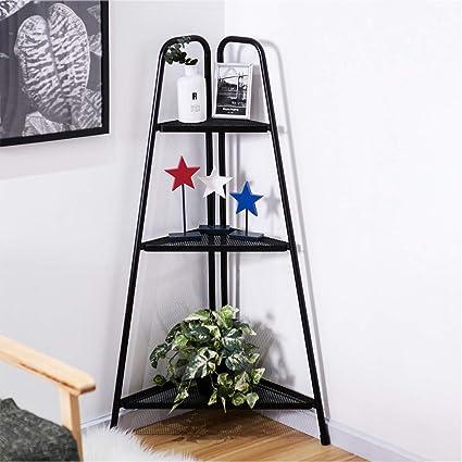 Shamoluotuo Estantería esquinera de 3 niveles, estilo nórdico, moderno escalera, estantería para libros de 3 niveles, estante de pared, estante para plantas, estantes para mostrador: Amazon.es: Oficina y papelería
