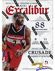 2016/2017 Panini Excalibur NBA Basketball EXCLUSIVE Factory Sealed Retail Box with 11 Packs! Look for Rookies & Autographs of Brandon Ingram, Ben Simmons, Devin Booker & Many More! WOWZZER!