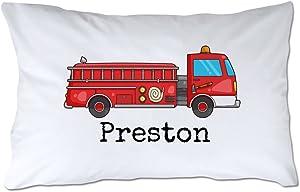 Pattern Pop Personalized Fire Truck Pillowcase