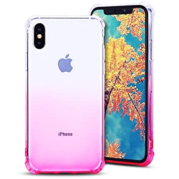 size 40 4b7ca 282cc MoEvn Coque iPhone X Transparente, iPhone 10 Case, Souple Flexible Silicone  Gel TPU Housse