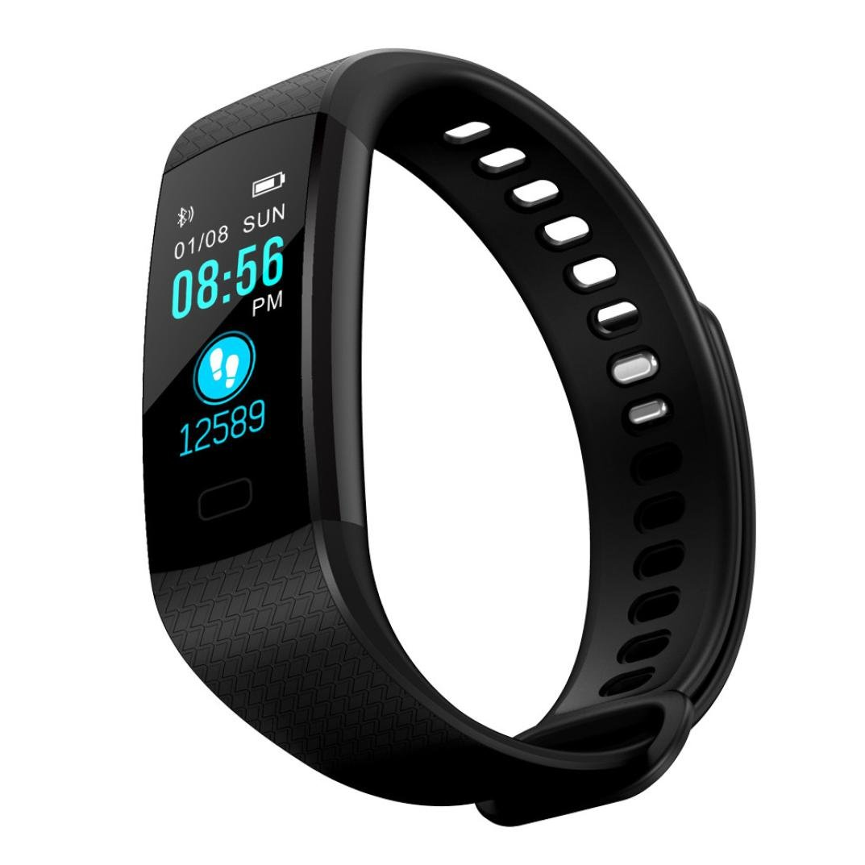 LtrottedJ Smart Watch Sports Fitness Activity Heart Rate Tracker Blood Pressure Watch (Black)