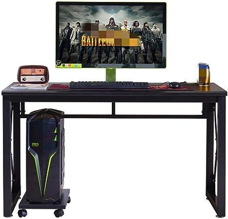 Zjcpow Mesa para Gaming Juegos de Escritorio E-Sports Tabla Inicio del Juego de Ordenador de Mesa Escritorio (Color : Black, Size : 120x70x60cm): Amazon.es: Hogar