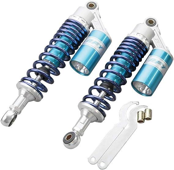 gzyf 320 mm motocicleta amortiguadores amortiguador para Honda CX500 GL500 650 Scooters Suspensión trasera azul