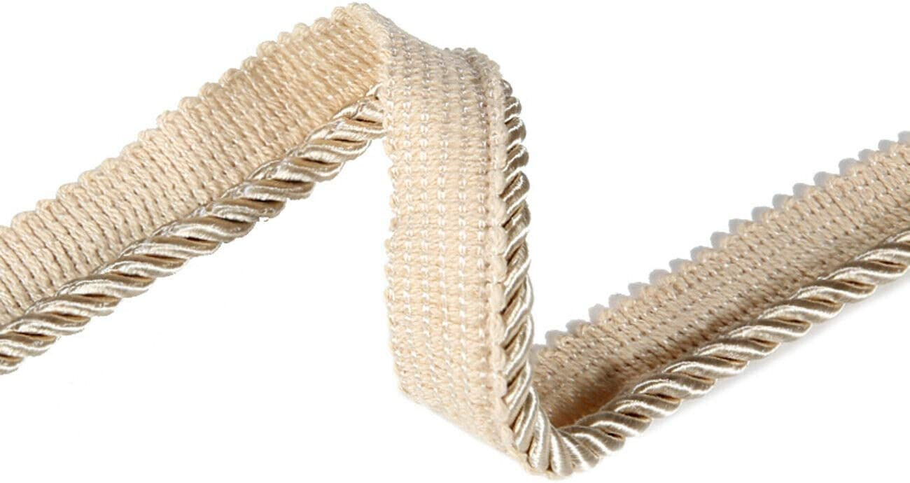 High Strength Vintage White Neotrims Piping 6mm Silky Barley Twist Cord Rope Braid 3 Ply /& Matching 16mm Flanged Insertion Piping Furnishing Upholstery Crafts Trimming,36 Colors 10 Yards