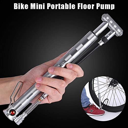 waterfail Inflador, Bomba de Bicicleta Mini Bomba barómetro ...