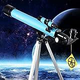 Telescope, AZ50600 Travel Refractor Telescope for Kids, Telescope Eyepieces and Tripod Enjoy Steady Observation of Astronomy