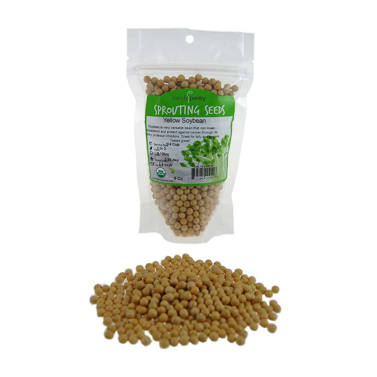 Certified Organic Dried Yellow Soybeans - 10 Lb - Perfect for Use in a Soy  Milk Making Machine to Make