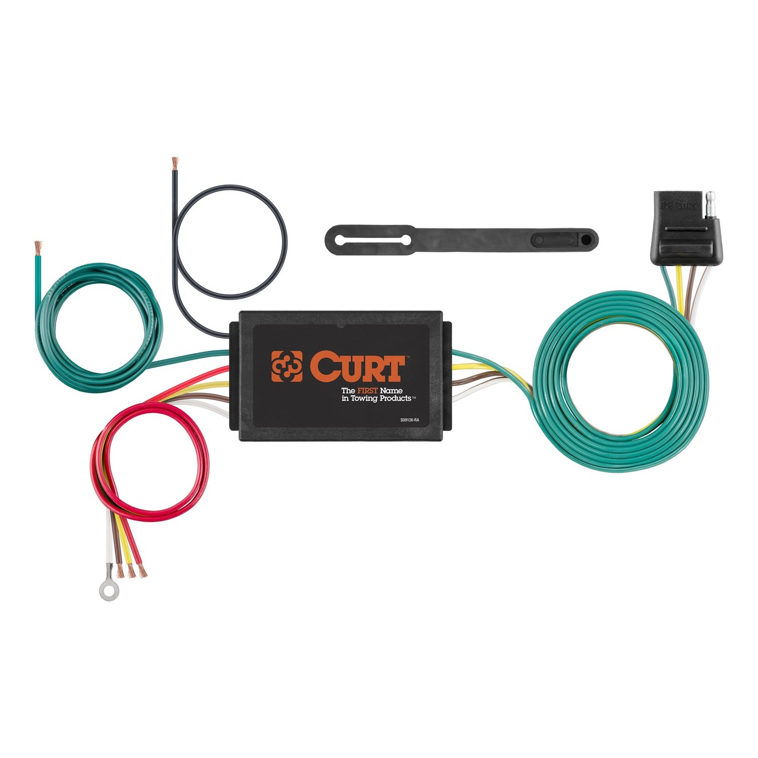 Curt 56146 Powered 3 To 2 Wire Taillight Converter Semi Trailer Harness Kit Automotive