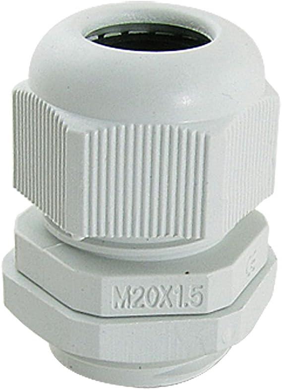 10/pcs Plastique Noir presse-/étoupes /étanches M20/x 1,5