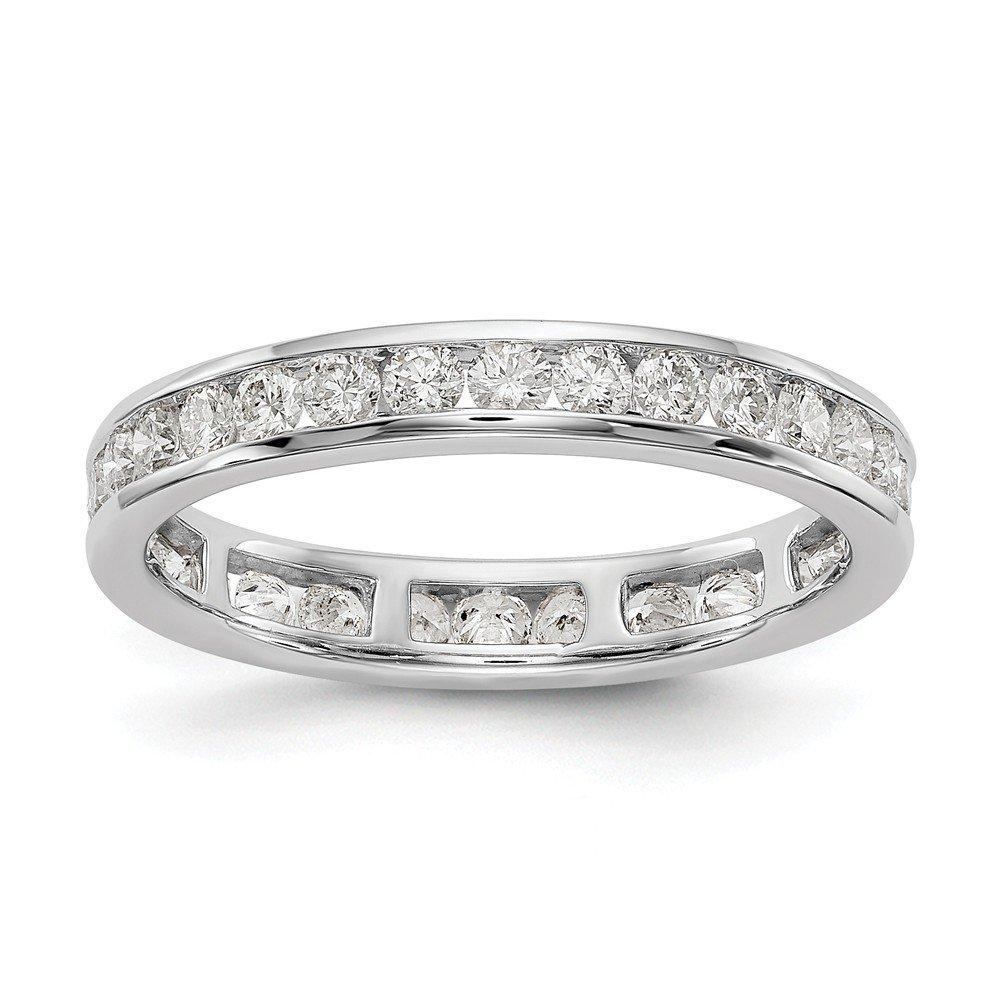 14k White Gold SI2-I1(H/I) Diamond Eternity Wedding Band Ring 0.998 cttw