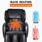 NFL Zero Gravity Full Body Electric Shiatsu Massage Chair Recliner with Built-in Heat Therapy and Foot Roller Air Massage System Stretch Vibrating for Home Office
