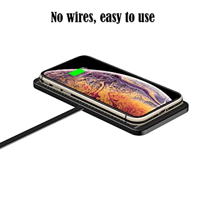 MXJEEIOWireless Charger Qi 2in1 Cargador inalámbrico para coche Cargador rápido Carga inductiva para iPhone X/8/8 Plus, Galaxy S9/S8/S8 Plus/S9/Note ...
