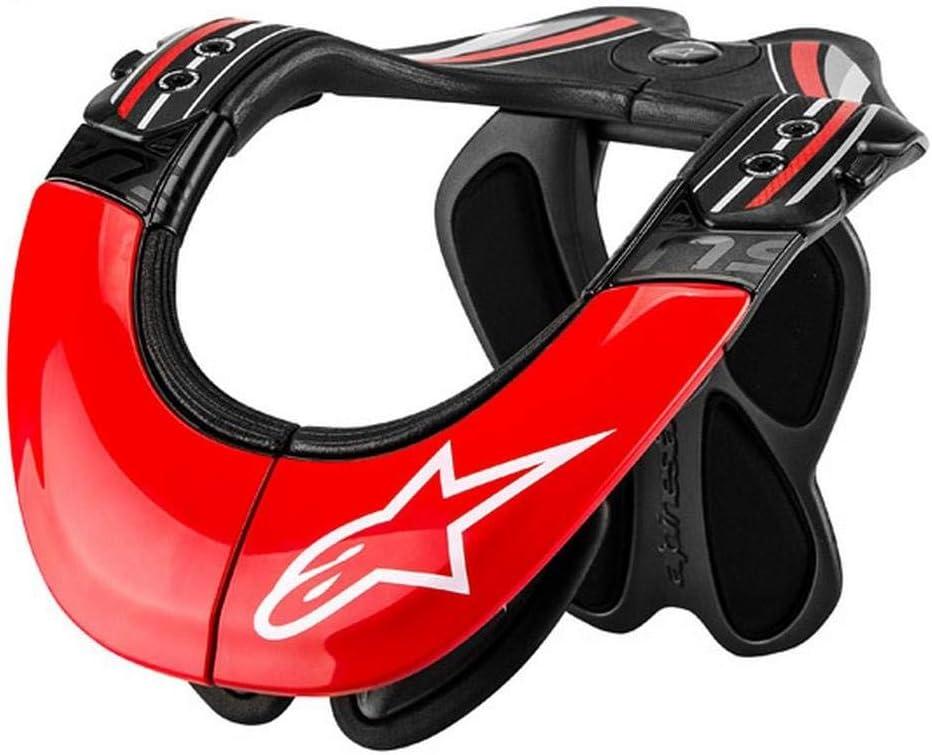 Red//White//X-Small//Medium Alpinestars BNS Tech Carbon Adult Neck Brace Motocross Motorcycle Body Armor