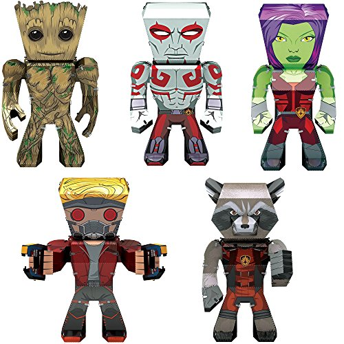 Fascinations Metal Earth 3D Metal Model Kits Marvel Guardians of the Galaxy Complete Set of 5 - Groot - Rocket - Drax - Gamora - Star-Lord from Fascinations