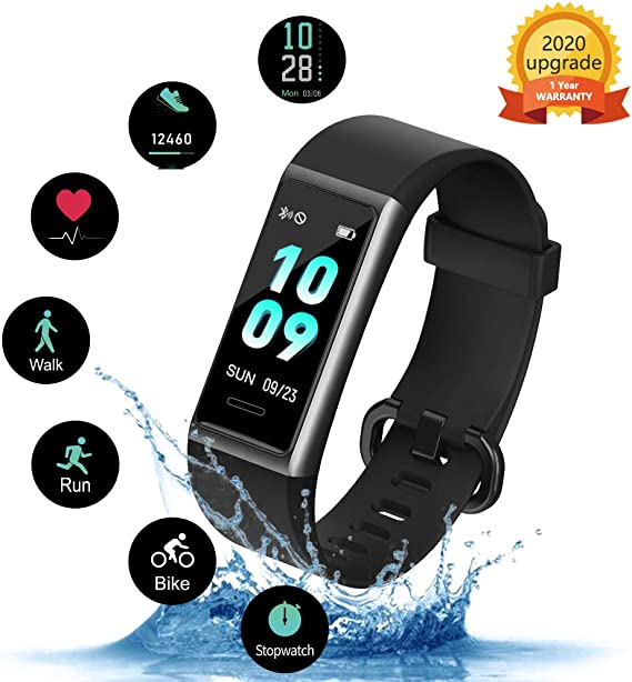 KUNGIX Fitness Trackers, Activity Trackers Fitness Watch High-End for Women Man, IP68 Waterproof Fitness Tracker Watch With Heart Rate,Fit Watch Calorie Counter Step Counter Sleep Monitor Smart Watch