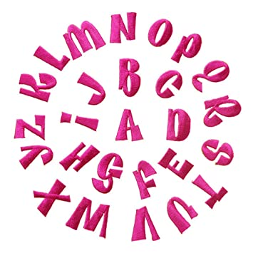 26 gestickte Aufnäher, Alphabet-Buchstaben A-Z, zum Nähen oder ...