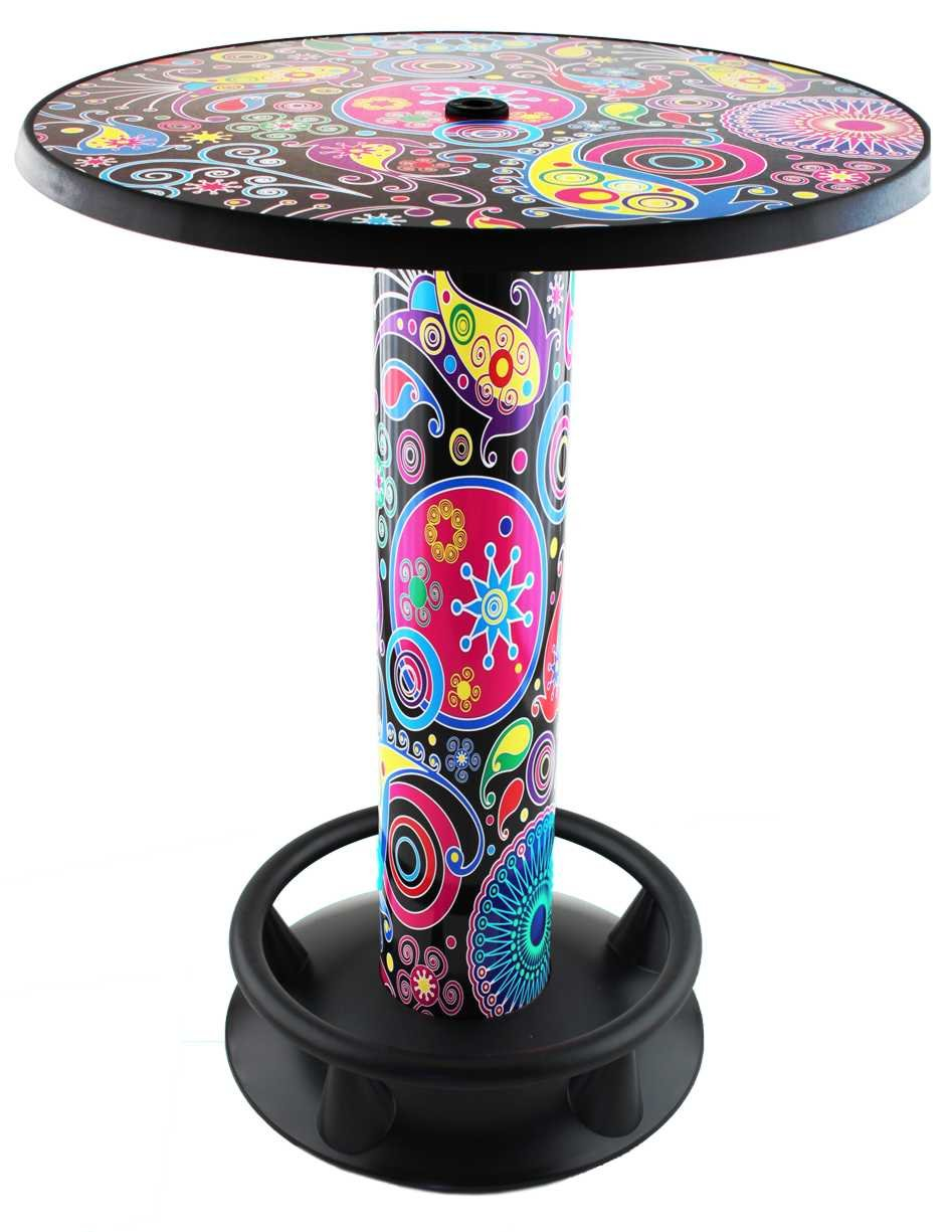 Amazon.de: Stehtisch Quick Table Design Floral, Stehbiertisch ...