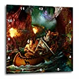 Cheap 3dRose dpp_11658_3 Native American Family From Long Ago on a Journey Down The River by Canoe Wall Clock, 15 by 15-Inch