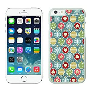 The Christmas Tree On Christmas Day Lovely Mobile Phone Protection Shell for iphone 6 Case-Unique Soft Edge Case(2015),Christmas Snowflake iPhone 6 Case 9 White